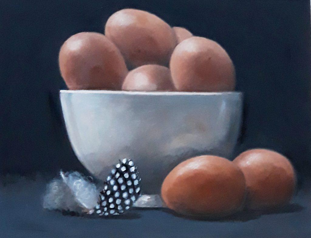 Bowl of Brown Eggs